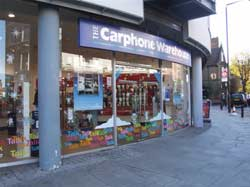 Orange and Carphone stores robbed